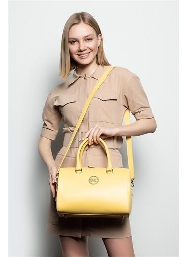 Marie Claire Omuz Çantası Sarı